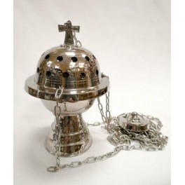 SILVER PLATED CATHOLIC CHURCH CENSER THURIBLE from Italy