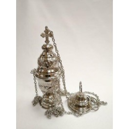 SILVER PLATED CATHOLIC CHURCH CENSER THURIBLE