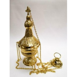 GOLD PLATED CATHOLIC CHURCH CENSER THURIBLE