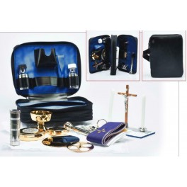 CATHOLIC PRIEST NATURAL DERMAL 2 SIDES BAG WITH ACCESSORIES FROM ITALY